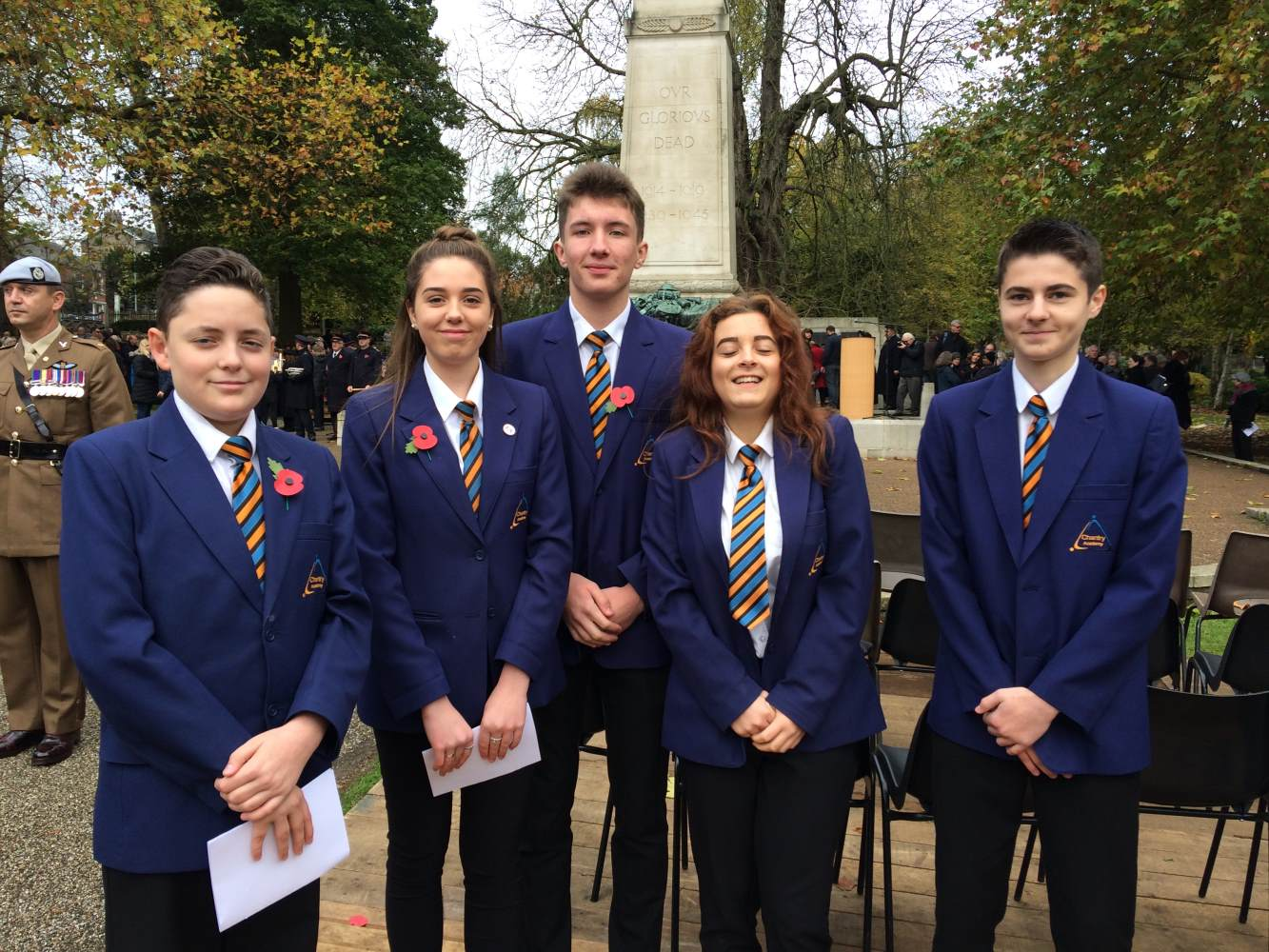 Students at Remembrance